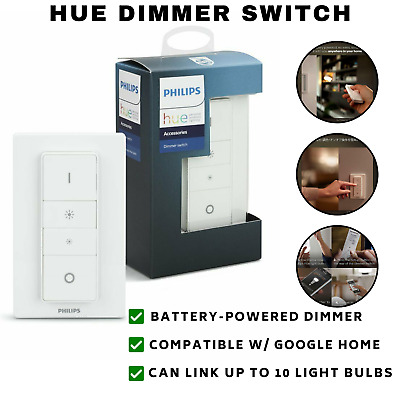 AU58.58 • Buy Philips Hue Smart Wireless Dimmer Switch With Remote For Smart LED Light Bulbs