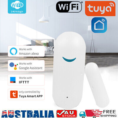 AU17.99 • Buy Tuya Smart Wifi Wireless Door Window Sensor Burglar Safe Alarm For Alexa Google