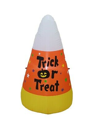 $ CDN56.43 • Buy Halloween Air Blown Inflatable Blowup Yard Decoration Candy Corn Trick Or Treat