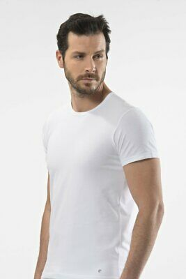 £15.95 • Buy Cacharel Mens Short Sleeve Lycra Round Neck Ribbed Cotton T-Shirt Vests Tank Top