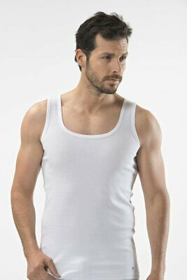 £17.95 • Buy Cacharel Mens 2 Pack Sleeveless Lycra Cotton Ribbed Vests Tank Top