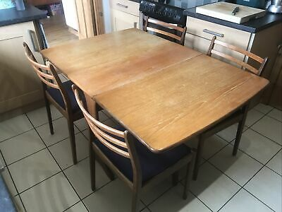 G Plan Drop Leaf Table + 4 Chairs • 150£