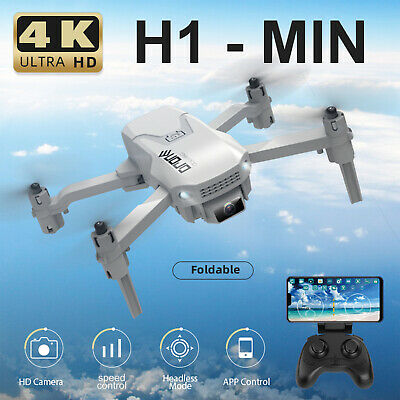 AU58.99 • Buy H1 RC Drone With Camera 4K Drone Foldable Quadcopter For Kids 3 Battery X1U0