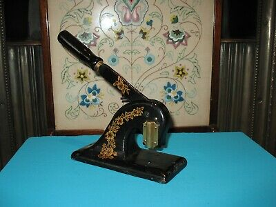 £25 • Buy Antique Cast Iron Seal Stamp Embossing Press
