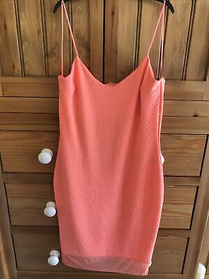 River Island Lovely Coral Dress.....size 16 • 1.20£