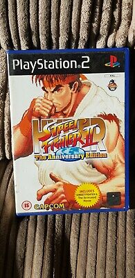 Hyper Street Fighter II: The Anniversary Edition (Sony PlayStation 2, 2004) • 5£