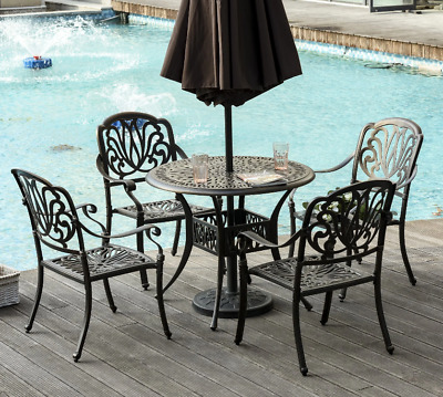 £799.90 • Buy Vintage Dining Set Cast Aluminium Furniture Outdoor Garden Patio 4 Chairs Table