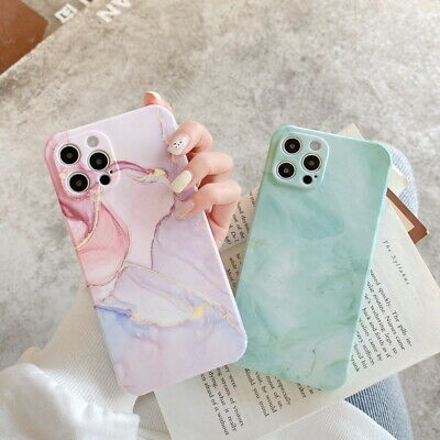 AU5.10 • Buy Shockproof Marble Silicone Case Cover For IPhone 12 Pro Max 11 XS XR X 8 7 Plus
