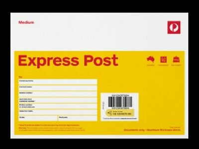 AU134 • Buy 20 X Medium Prepaid C5 EXPRESS Document Envelope Aust Post With EXPRESS DELIVERY