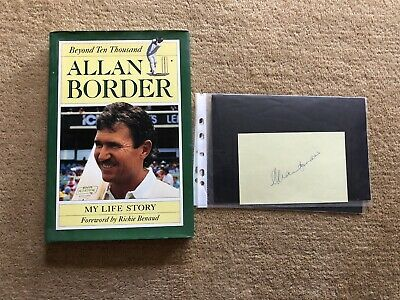 AU23 • Buy Cricket Allan Border Book And Signed Autograph