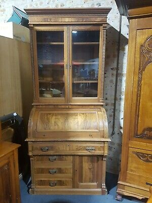 AU995 • Buy C.1890 Drum Top Bureau Bookcase