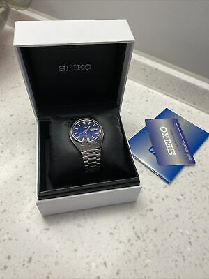 $ CDN37.92 • Buy Seiko Automatic Steel Mens Water Resistant Watch Blue Face