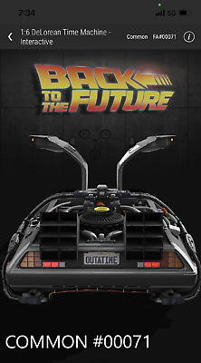 $10000 • Buy 🔥VEVE NFT Back To The Future #00071 Of 50000 1:6 Delorean  - COMMON🔥