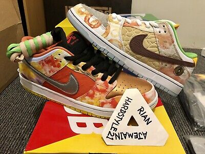 AU445 • Buy Nike Sb Dunk Low Pro QS X Jason Deng Street Hawker US9.5 Rare Sold Out DSWT 2021
