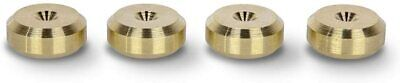 £8 • Buy PrecisionGeek Solid Smooth BRASS Speaker Spike Pads Shoes 20mm DIA  Set Of 4
