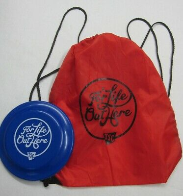 AU12.41 • Buy Tractor Supply Company Frisbee + Nylon Bag Backpack Drawstring Life Out Here TSC