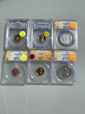 AU4.26 • Buy Certified US Coins ANACS & Or PCGS No Reserve $200+ Red Book Value; C77