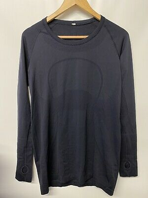 $ CDN72.79 • Buy Lululemon Swiftly Tech Navy Long Sleeve Crew Shirt Size 12