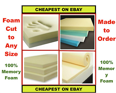 £12 • Buy Cut To Size Cushion Pads High Density Upholstery Memory Foam - 100% Memory