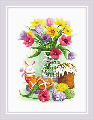 Counted Cross Stitch Kit RIOLIS - Easter Still Life With Bunny • 21.83£
