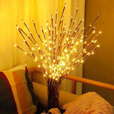 LED Fairy Lights Willow Twig Branch Home Party Decor Lighting Lamp Waterproof UK • 5.19£