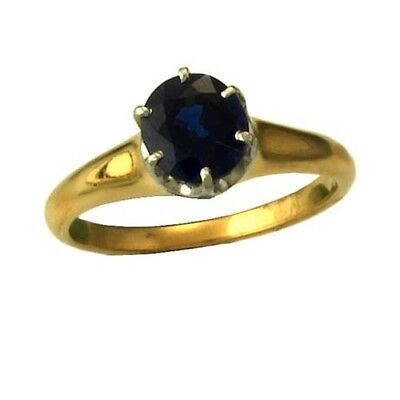 AU825.62 • Buy 18K Yellow Gold Quality 1 Blue Sapphire (2 CT TW) Ring Size 7