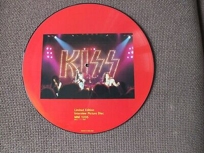 Kiss Limited Edition Interview Picture Disc MM 1205 Black And Red Mint Condition • 24.90£