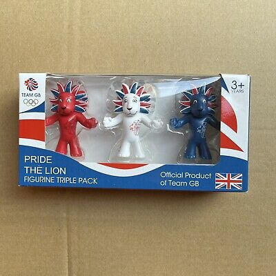 Official London 2012 Olympics Set Of 3 Figures Pride The Lion Mascot - New • 10£