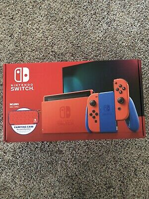 AU458.81 • Buy Nintendo Switch Mario Red And Blue Edition W/ Carrying Case