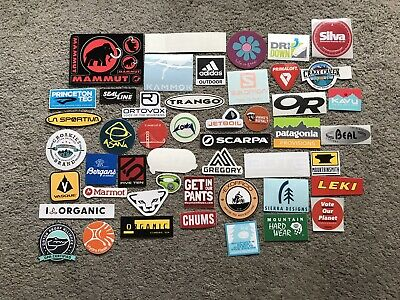 $ CDN44.99 • Buy 52 Outdoor Camp Stickers/Decals # 52B Mammut Mtn Hardwear Patagonia Mtn Smith