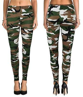 New Women Ladies Printed Full Length Stretchy Leggings Skinny Casual Pants • 6.99£