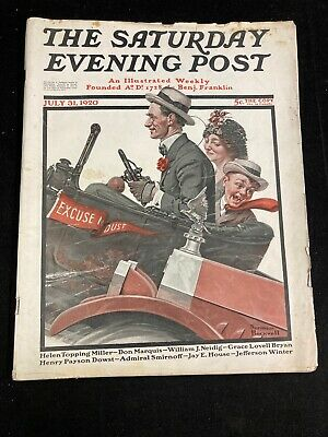 $ CDN74.98 • Buy The Saturday Evening Post | July 31, 1920 Norman Rockwell Complete Stories Ads