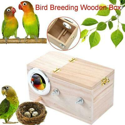 £8.53 • Buy Wooden Bird Breeding Box Cage Parrot Budgie Nesting Finch NEW House I2P3