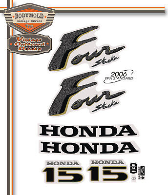 AU58 • Buy HONDA 15hp 4 Stroke Decals/stickers  Quality Product