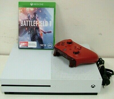 AU107.50 • Buy Microsoft Xbox One S 500GB White Console 1681 + Controller + Game BATTLEFIELD 1