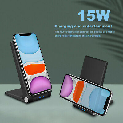 AU19.99 • Buy 15W Foldable Wireless  Charger Charging Dock Stand For Air Pods IPhone 12Pro Max