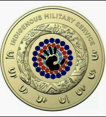AU13.90 • Buy 2 Dollar 2021 $2 INDIGENOUS MILITARY SERVICE COIN, FROM RAM ROLL Two Dollar UNC