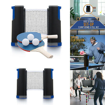 AU20.50 • Buy Portable Table Tennis Ping Pong Set Paddle Bats Telescopic Extending Net Indoor