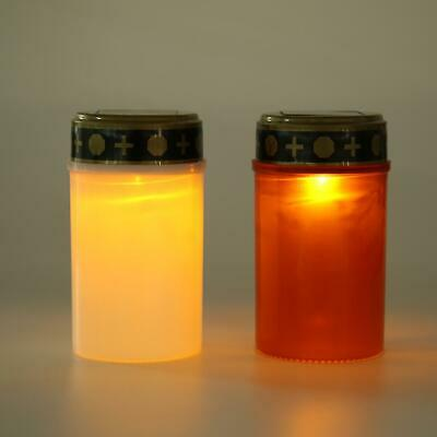 £6.27 • Buy Solar Power Grave Lawn Light Flameless Electronic LED Candle Lamp Cemetery Light