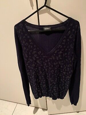 AU23 • Buy Kookai Size 0 (Small ) Navy Jumper With Sparkle Feature