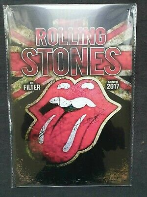 £7 • Buy Rolling Stones Metal Sign Plaque English Rock Posters