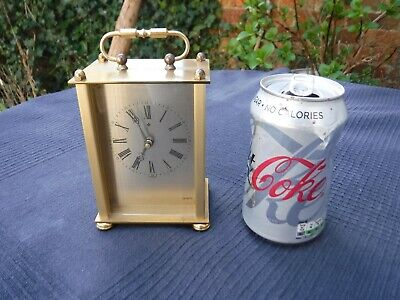 £10 • Buy Vintage Brass Effect Quartz Battery Carriage Clock - Made In Germany
