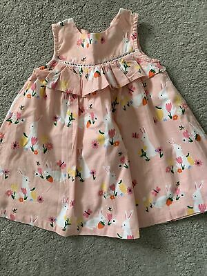 AU3.79 • Buy John Lewis Baby Girl Summer Dress, 6 To 9 Month, Cotton, Pink Bunny, Sleeveless,