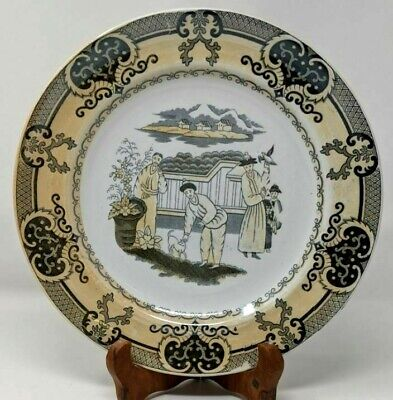 """$125 • Buy Petrus Regout & Co Maastricht Chinoiserie 10"""" Plate Dutch Netherlands"""