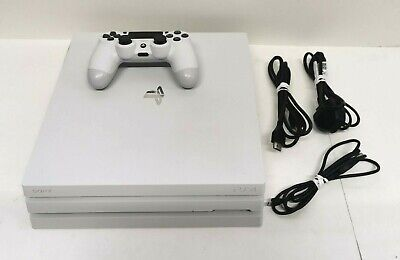 AU396.69 • Buy Sony PlayStation 4 PS4 Pro White 1TB Console Bundle 1 Controller