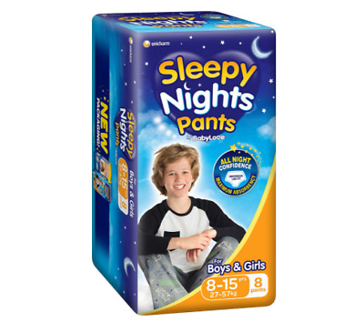 AU60.04 • Buy Sleepy Night Pants Comfortable Fit Size 8-15yrs (27-57kg), 32 Nappies (4x 8pack)