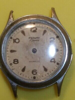 $ CDN12.50 • Buy Pronto. Incabloc.. 17 Jewels. Swiss . As A Part ! For Repair ! Does Not Work !