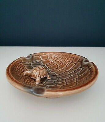 Wade Vintage Porcelain Brown Tortoise Ashtray, Perfect Condition. 60s • 5.50£