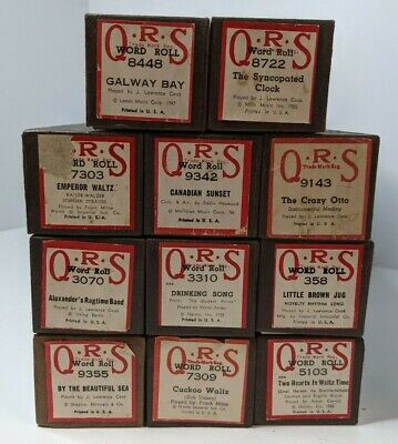 $ CDN43.80 • Buy Lot Of 11 Vintage QRS Player Piano Word Rolls