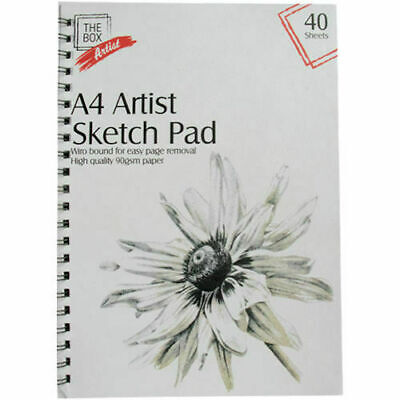 £2.55 • Buy A4 Sketch Pad 40 Sheets Painting Books Pads Artist Bound High Quality Artwork UK